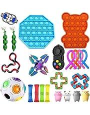 Azbel Sensoriska leksaksset, 23 st figet-leksaker för barn och vuxna, stressavlastning för barn och vuxna, specialleksaker sortiment för födelsedagsfest favoriter