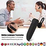 Fosa Traductor Inteligente Bluetooth 4,1 Portátil, Auricular Inalámbrico Verdadero TWS, Traducción a Tiempo Real de 16 Idiomas para iPhone / Samsung / iPad