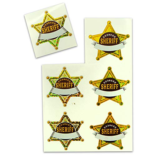 Kipp Brothers Sheriff Sparkle Sticker Sheet Pack - 102 Stickers