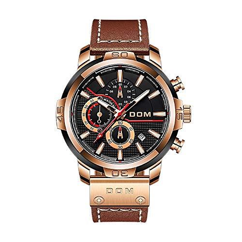 Herren Supercar Style Uhr Saphir Schwimmen Wasserdicht Leuchtkalender Chronograph Big Dial Armbanduhr Uhr Herrenuhr-M-1324GL-1M