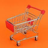 Eatbuy Carrito de Compras Mini Carrito de Compras-Mini Carrito de Compras Carrito de supermercado Juguete para Mascotas Crecimiento de Inteligencia de Aves