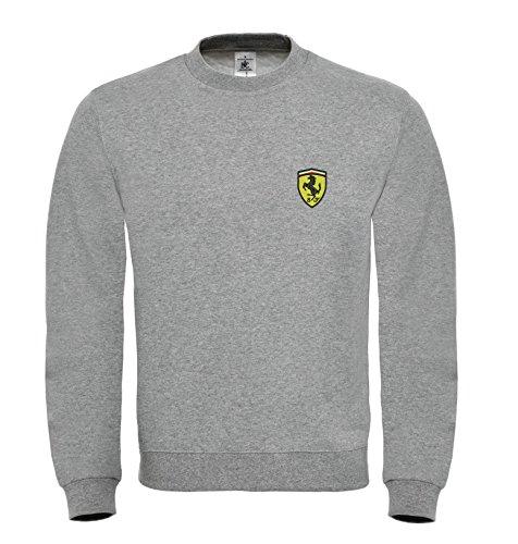 Ferrari Auto Fun Bestickte Logo Sweatshirt Premium Qualität - 6080 - GRAU (M)