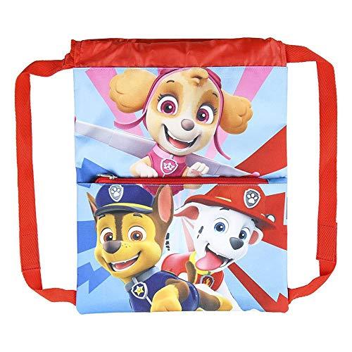 Cerdá, Saquito Guardería de Paw Patrol-Licencia Oficial Nickelodeon Studios Unisex niños, Multicolor, 270X330MM