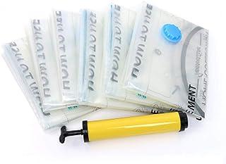 LXDDP Rangement Sacs sous Vide, 6 Paquets Sacs Rangement pour vêtements, Couette, literie, Durable, 80% d'espace Stockage ...