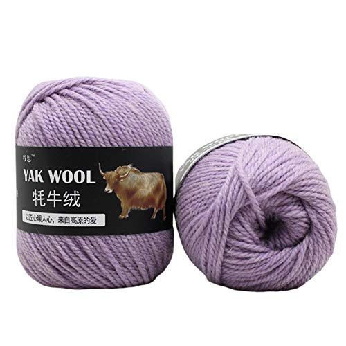 Saniswink Garne Double Knit Bumper Pack, 5 Stück DIY Weiche Hand Stricken Garn Ball Decke Hut Pullover Schal Häkeln Material Helles Lila
