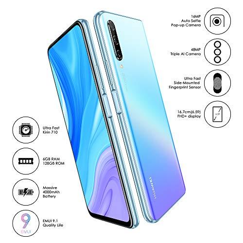 HUAWEI Y9s (Breathing Crystal, 6GB RAM, 128GB Storage, Ultra FullView Display, 48MP AI Triple Camera, Side-Mounted Fingerprint, 4000mAH Powerfull Battery, Kirin 710F, Android Based EMUI 9.1)