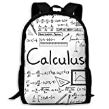 XCNGG Mochila de Viaje Estampada Math Geometry Geek Calculus, Impermeable, Ligera, con Dos Bolsillos Laterales