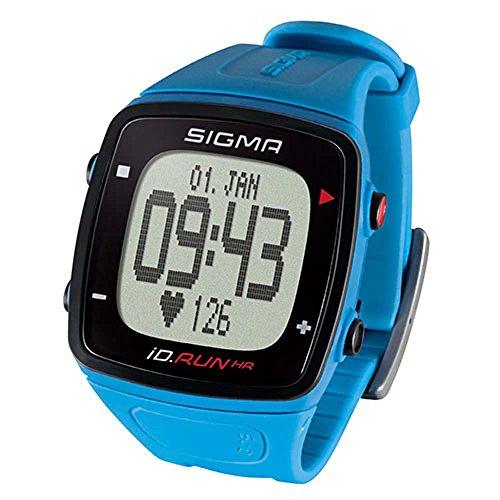 Sigma. Pulsuhr iD.Run HR Geschwindigkeit Distanzmessung über GPS blau Fahrrad