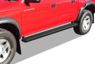 APS iBoard (Black Powder Coated 5 inches) Running Boards Nerf Bars Side Steps Step Rails Compatible with 2001-2004 Toyota Tacoma Double Crew Cab Pickup 4-Door