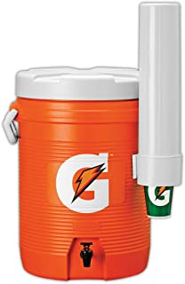 Gatorade 49201-09 Cooler with Cup Dispenser, 5 gal Capacity, Orange, Standard