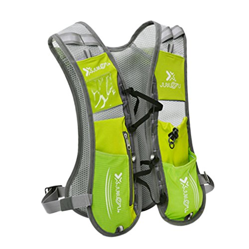 Sharplace Sac d'eau pour Vélo Poche Hydratation Kit Urgence Vessie d'eau Portable Sac à Dos Camping et Randonnée - Vert, 36 x 26 cm