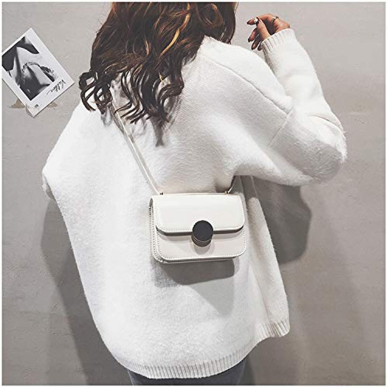 WANGZHAO Single Shoulder Bag Satchel Bag Lady Fashion Brief Lock Leisure Splicing