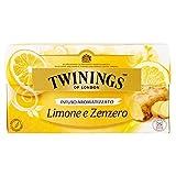 Twinings - Tè al limone e allo zenzero, 25 bustine da 1,5 g, 3 confezioni (3 x 38 g)