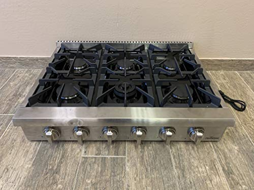 Thor Kitchen 36' High-end Modern Gas Rangetop European Style 6 Burners Built-in Stainless Steel Cooktop Gas Hob for Kitchen HRT3618U