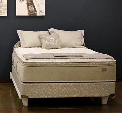 Chattam & Wells Eastern King Hamilton Latex Pillow Top Mattress & Low Profile Box