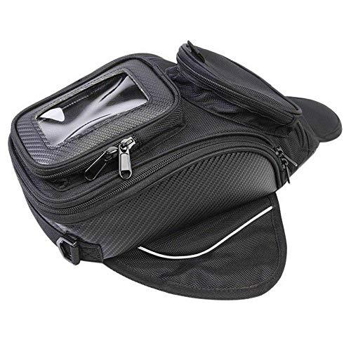 GCDN Tankrucksack für Motorrad Strong mit Transparent Fenster für Handy, Wasserdicht Oxford-Motorrad Tasche, Universell Magnet Tankrucksack für Motorrad für Honda Yamaha Suzuki Harley