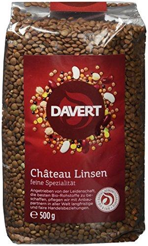 Davert Château Linsen, 2er Pack (2 x 500 g) - Bio