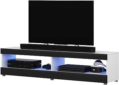 Selsey Mueble para Televisor Blanco Mate y Negro Brillante 100 x 40 x 40 cm: Amazon.es: Hogar