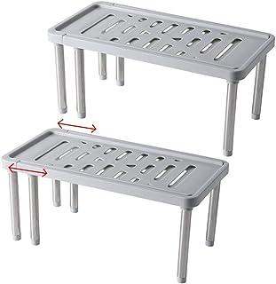 Étagère pour organisateur d'armoire de cuisine, étagère de placard extensible pour plus d'espace de rangement Organisateur...