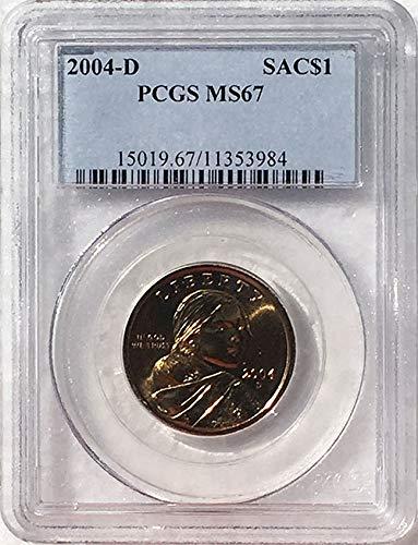 2004 D Sacagawea Dollar MS 67 Blue Label PCGS