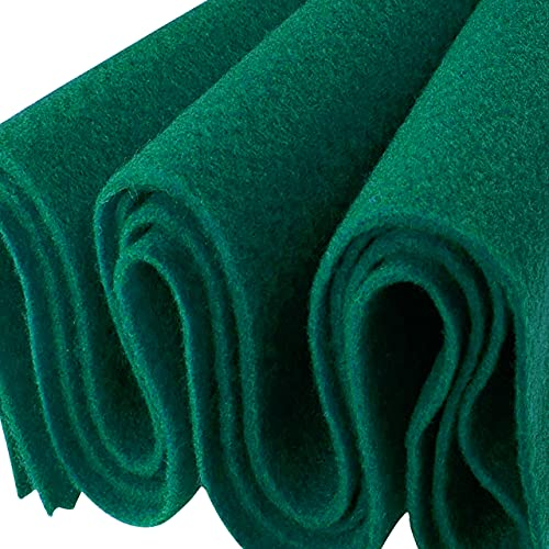 FabricLA Acrylic Felt Fabric - 72' Inch Wide 1.6mm Thick Felt by The Yard - Use Felt Sheets for Sewing, Cushion and Padding, DIY Arts & Crafts - Hunter Green, Half Yard