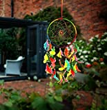 ILU Dream Catcher Wall Hanging Handmade Beaded Circular Net Decoration Assorted (Size 16 cm Diameter)