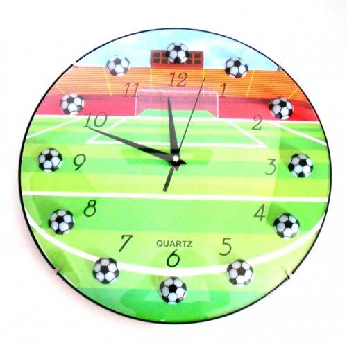 flevado Fussball Wanduhr Kinderzimmer Uhr Vereins Uhr