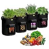 Simboom Bolsas para Plantas (4 Piezas 40 L - Negro)