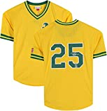 Mark McGwire Oakland Athletics Autographed Yellow Mitchell & Ness Replica Batting Practice Jersey - Autographed MLB Jerseys