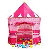 LEVEL25 Castillo Tienda Infantil Plegable para niños y niñas, Interior y Exterior, Rosa