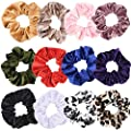 60 Pcs Premium Velvet Hair Scrunchies Hair Bands for Women or Girls Hair Accessories with Gift Bag,Great Gift for Holiday Seasons (Neutral colors)