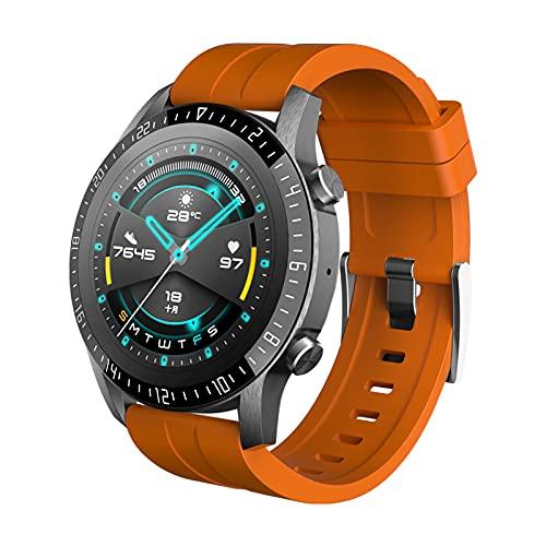 SDTYYP Reloj Inteligente ALLCALL GTE para Hombre, Pulsera Deportiva con rastreador de Actividad física BT, Reloj Inteligente para Mujer con ECG Impermeable IP68 para teléfono Android iOS (Orange)