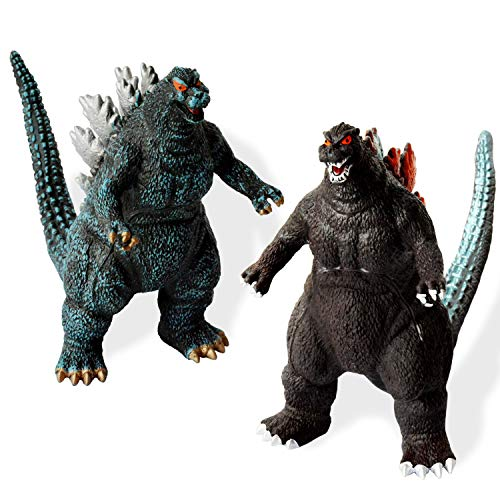 [2 Pack] Godzilla Toys,[10-7-3 Inch] Godzilla Action Figures with [Cutlery Grade PC Material][Realistic Model] Suit for Home and Office
