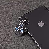 Devlope - Protector de Pantalla para Cámara iPhone X/XS/MAX ,Aplicable iPhone X/XS/XS MAX Cambio a 11 Pro MAX Lens Cover, Efecto Realista, Protector de Cámara(Ultrafino, antihuellas) (Negro)