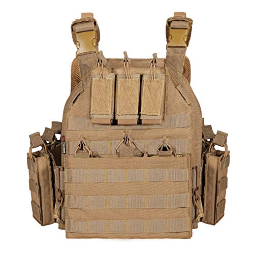 CAMO Outdoor Tactical Military Carrier Vest (tan)