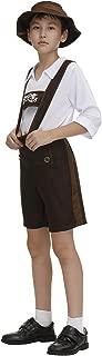 Haorugut Kids Oktoberfest Costume Bavarian Little Lederhosen Role Play German Beer Dress Up for Boys Girls