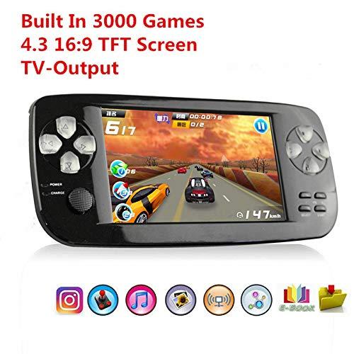 Anbernic Console di Gioco Portatile, Videogioco Portatile con 3000 Giochi E Uscita TV, Fotocamera, SQ Music (Black)