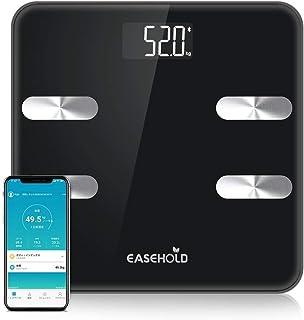 【体重計 スマホ連動 】Easehold体重計·体組成計·体脂肪計 体脂肪率·筋肉量·骨量·体水·BMI など18項健康指標測定可能 IOS/Android対応 高精度 Bluetooth体重計