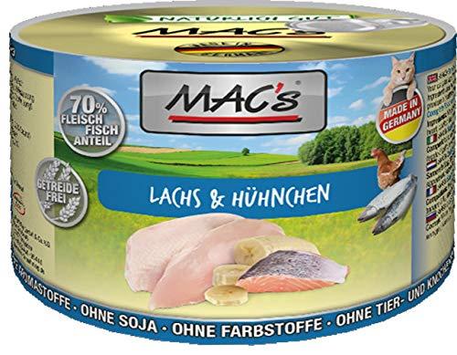 Mac's Katzenfutter getreidefrei Lachs & Hühnchen, 400 g