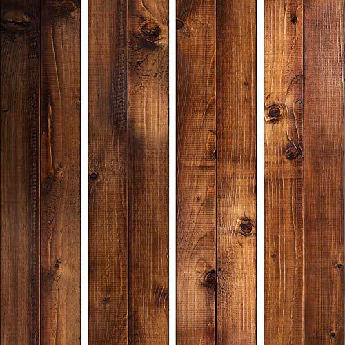 murando - PURO TAPETE - Realistische Tapete ohne Rapport und Versatz 10m Vlies Tapetenrolle Wandtapete modern design Fototapete - Holz Bretter Braun f-C-0252-j-a
