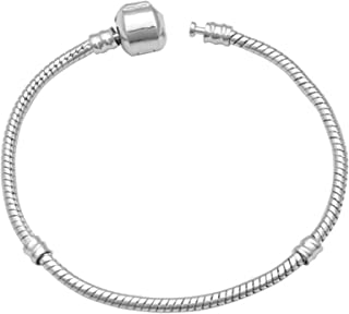 XINSTAR Bracelet en argent avec chaîne serpent classique et perle plaqué pour femme et fille - Cadeau d'anniversaire - Bra...