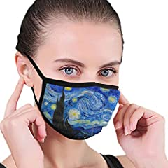 【Reusable Face Cover】The dust mouth cover is designed to be washed, stretchy adjustable ear loops for closely fit, easy to wear and off! Do not bleach. Do not dry clean. Tumble dry low or lay flat to dry to avoid shrinkage. 【Perfect for outdoor occas...