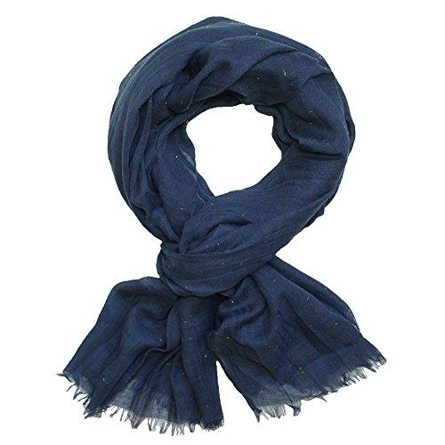 Schönes Schaltuch in vielen Farben blau Petrol rot schwarz grau Creme, Farbe:blau