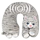Neck Massager - Vibrating Body Massage - Neck Support - Pain Relief - Home, Office, Car - Plush Stuffed Animal (Cat)