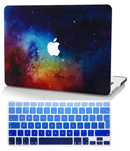 KECC MacBook Pro Retina 13 Inch Case (2015) w/ UK Keyboard Cover Plastic Hard Shell A1502 / A1425 (Night Dream)