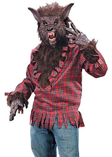 Halloween adultes Mens brune Costume de loup garou
