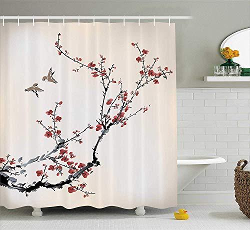 cortinas ducha granate