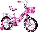 XZQ Les Enfants de vélo Fille Porte-bébé 2-8 bébé an vélo Haut en Acier au Carbone vélo Pliant (Size : 14 inch Blue)