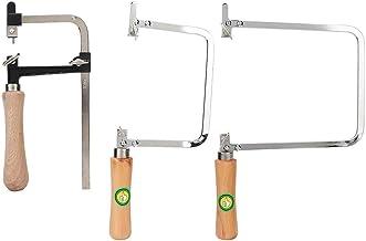 3 unids/set sierra para metales portátil en forma de U, arco de sierra fijo + arco de sierra ajustable + arco de sierra más profundo, herramienta de corte para hacer manualidades de procesamiento de