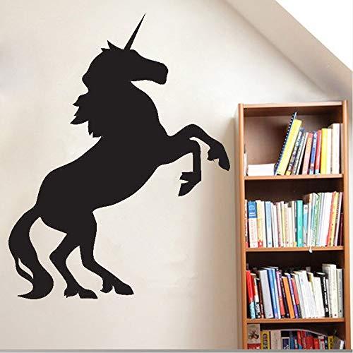 Cyalla Silhouette Pferd Tier Vinyl Wandaufkleber Pferd Tier Wandtattoos Cartoon Abnehmbare Kunstwand Kinder Kinderzimmer Dekor 42 * 55 Cm